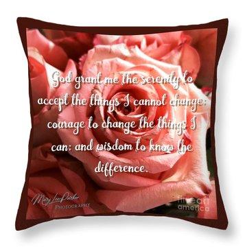 Serenity Prayer II Throw Pillow
