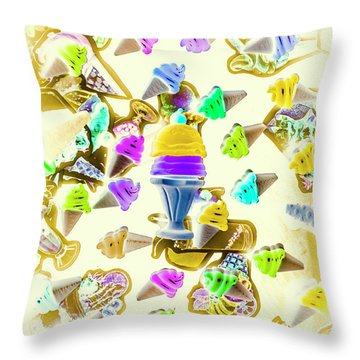 Served Ice-cream Cold Throw Pillow