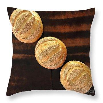 Sesame Seed Stripes 1 Throw Pillow