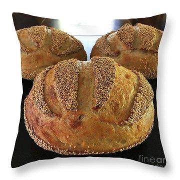 Sesame Seed Stripes 2 Throw Pillow