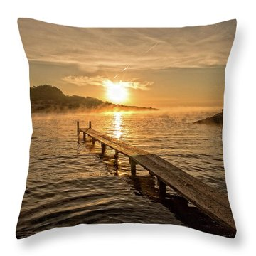 Sespanyol Beach In Ibiza At Sunrise, Balearic Islands Throw Pillow
