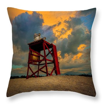 Setting In The Clouds Throw Pillow