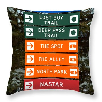 Seven Springs Ski Resort Directions Throw Pillow