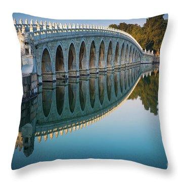 Seventeen Arch Bridge Throw Pillow