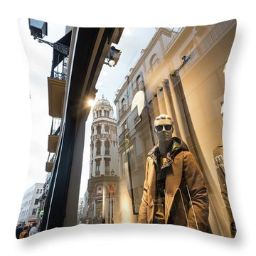 Throw Pillow featuring the photograph Sevilla Streets by Alex Lapidus