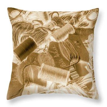 Sewn In Sepia Throw Pillow