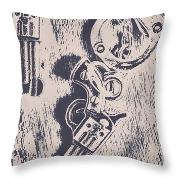 Shackled To The Law Throw Pillow