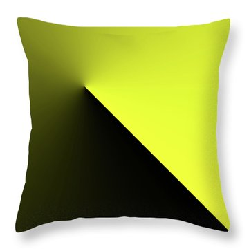 Throw Pillow featuring the digital art Shades Of Yellow In Rotational Gradient by Bill Swartwout Fine Art Photography