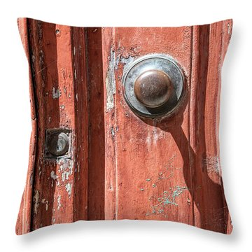 Shadow Door Of Tuscany Throw Pillow