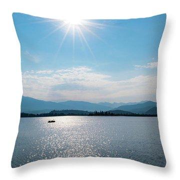 Shadow Mountain Lake Throw Pillow