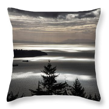 Shadowed Cloud Throw Pillow