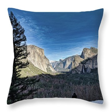 Shadows In The Valley Throw Pillow