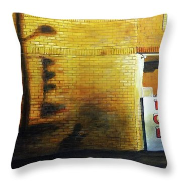 Throw Pillow featuring the painting Shadows On The Wall by William Brody