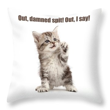 Throw Pillow featuring the photograph Shakespurr Lady Macfluff by Warren Photographic