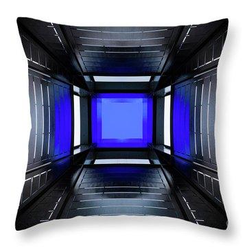 Shape Of Blue Throw Pillow
