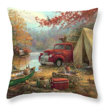Share The Outdoors Throw Pillow