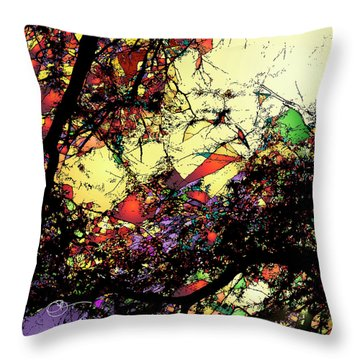Shatter 2 Throw Pillow