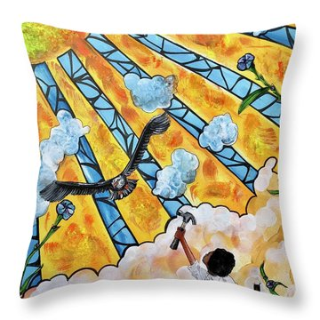 Shattered Skies Throw Pillow