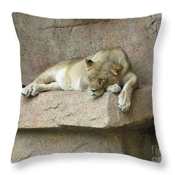 She Lion Throw Pillow