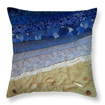 She Sews Seashells On The Seashore Throw Pillow