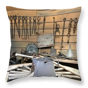 Shed Tools 1 Throw Pillow