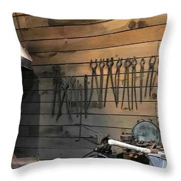Shed Tools 2 Throw Pillow