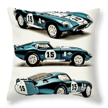 Shelby Cobra Daytona Throw Pillow