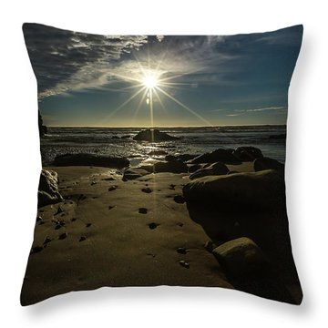 Shell Beach Sunburst Throw Pillow