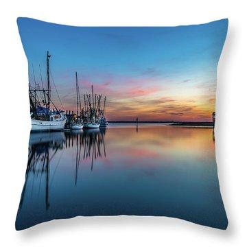 Shem Creek Blue Hour, Mt. Pleasant Sc Throw Pillow