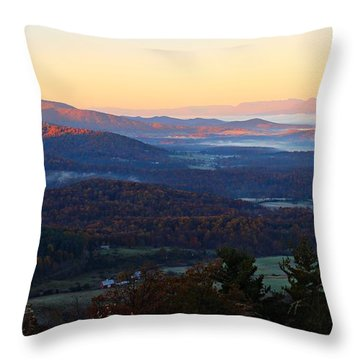 Throw Pillow featuring the photograph Shenandoah Mountains by Candice Trimble