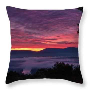 Throw Pillow featuring the photograph Shenandoah Valley Dawn by Lara Ellis
