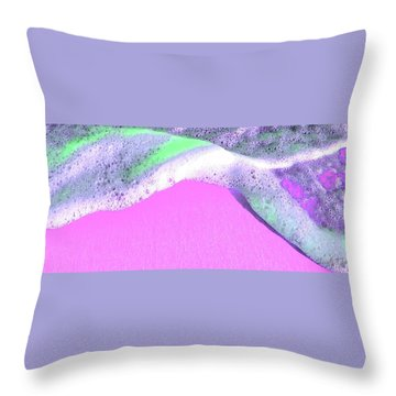 Throw Pillow featuring the digital art  Sherbet Shores by Cindy Greenstein