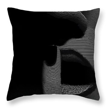 Throw Pillow featuring the digital art Shhh by ISAW Company