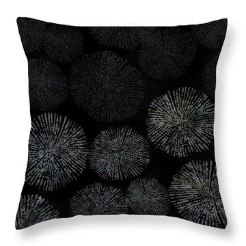 Shibori Sea Urchin Burst Pattern Throw Pillow