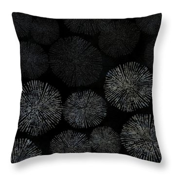 Shibori Sea Urchin Burst Pattern Throw Pillow