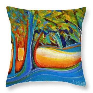 Shimmering Whispers Throw Pillow