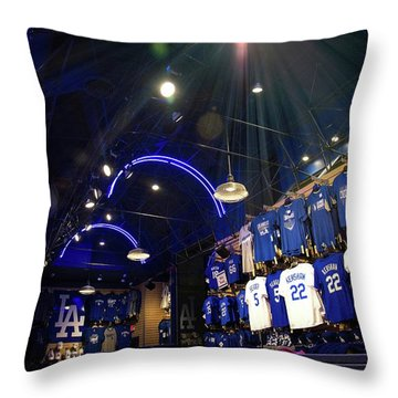 Throw Pillow featuring the photograph Shine On Dodger Blue by Lynn Bauer