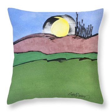 Shine On, Harvest Moon Throw Pillow