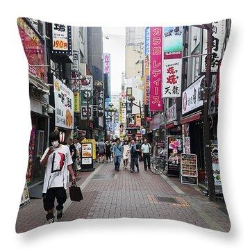 Shinjuku Throw Pillow