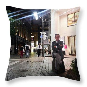 Shinjuku Man Throw Pillow