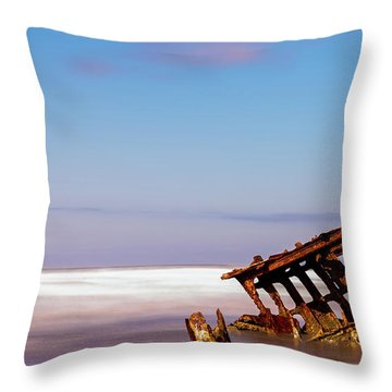 Throw Pillow featuring the photograph Ship Wreck by Dheeraj Mutha