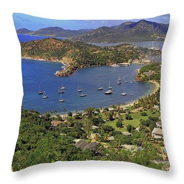Throw Pillow featuring the photograph Shirley Heights by Tony Murtagh