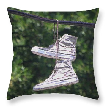 Shoefiti 72793dp Throw Pillow