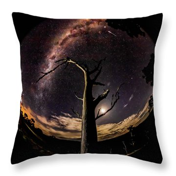 Shooting Stars And Milky Way Throw Pillow