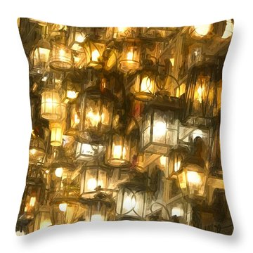 Shopping For Lighting Throw Pillow