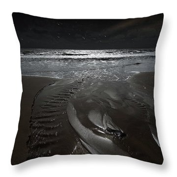 Shore Of The Cosmic Ocean Throw Pillow