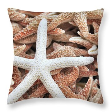 Show Off Starfish Throw Pillow