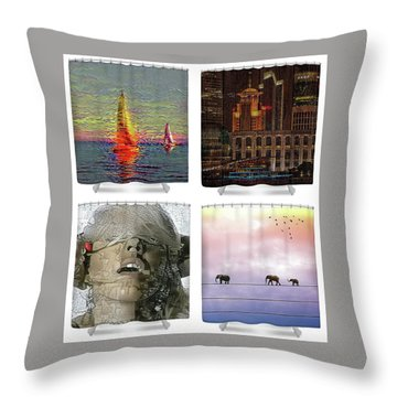Shower Curtains Samples Throw Pillow