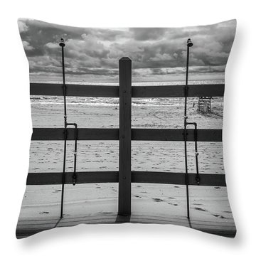 Throw Pillow featuring the photograph Showers by Steve Stanger