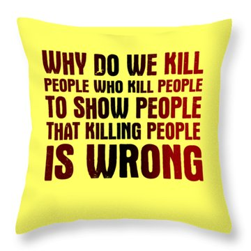 Showing People Throw Pillow
